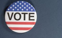 Rösta knappen royaltyfria bilder