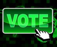 Rösta knappshower world wide web och beslut vektor illustrationer