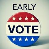 Rösta tidigt i Förenta staternavalet royaltyfri foto