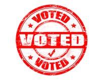 röstad stämpel Arkivfoto