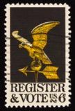 röstar den poststämpeln för register 2 Arkivfoto