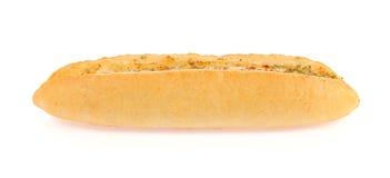 Rösten Sie Brotscheiben in den Streifen im Metalltopf Lizenzfreie Stockbilder