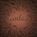 Röstkaffeebohne, Vektorillustrationshintergrund für den Entwurf vonseiten lizenzfreies stockbild