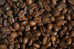Röstkaffeebohnennahaufnahme für Gebrauchshintergrund lizenzfreie stockfotos