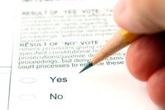 röstning Royaltyfri Foto