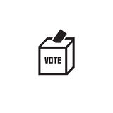 Röstningbegreppet - rösta på valurnasymbolen Royaltyfria Foton