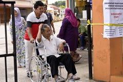 Röstningmitten för Malaysia det 13th riksdagsvalet Royaltyfri Foto
