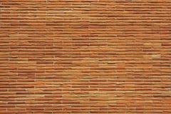 Rötliche dünne Backsteinmauer stockbild