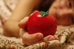 Rött äpple Arkivbild