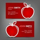 Rött äpple för affärskort Arkivfoton