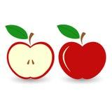 Rött äpple för vektor Arkivbild