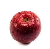 Rött äpple med droppar Royaltyfri Fotografi