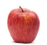 Rött äpple på vit Royaltyfri Bild