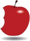 Rött äpple, tugga vektor illustrationer