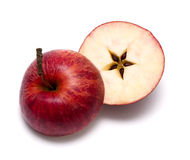 Rött äpple. Xmas arkivbild