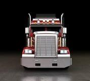 Åka lastbil på natten Royaltyfria Bilder