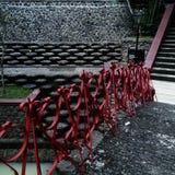 Rött överbrygga Arkivfoto