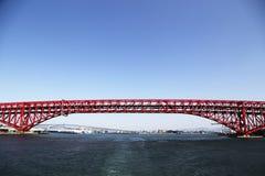 Rött överbrygga Royaltyfri Foto