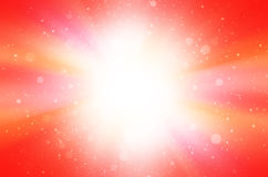 Rött abstrakt begrepp med stjärna- och cirkelbakgrund Royaltyfri Foto