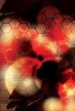 Rött abstrakt begrepp och oskarp bakgrundsdesign Royaltyfri Foto