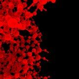 Rött abstrakt molekylDNA Royaltyfria Bilder