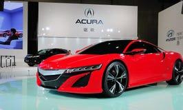 Rött Acura NSX begrepp Arkivbild