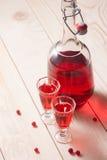 Rött bärvin eller starksprit royaltyfri foto