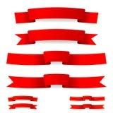Rött band Arkivbild