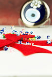 Rött band för jul Royaltyfri Bild