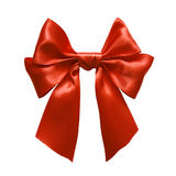 Rött band i bow Arkivbild