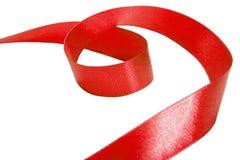 rött band Isolerat på vitbakgrunden Fotografering för Bildbyråer