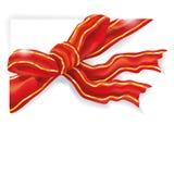 Rött band och förpackande band Royaltyfri Fotografi