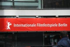 Rött baner av den 68th Berlinale festivalen 2018 Arkivfoton