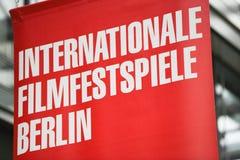Rött baner av den 68th Berlinale festivalen 2018 Royaltyfria Foton