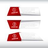 rött baner för ask 3D och grå färger 002 vektor illustrationer
