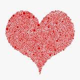 Rött baner för bubblacirkelhjärta Förälskelse Royaltyfria Bilder