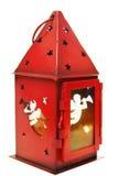 Röd stearinljushållare Royaltyfri Bild