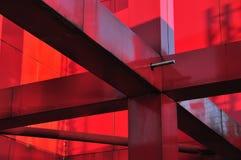 Rött belägga med metall konstruktion royaltyfria bilder