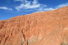 Rött berg i Quebrada de Humahuaca Royaltyfri Bild