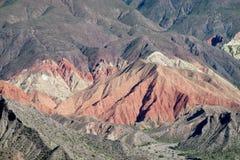 Rött berglandskap Arkivfoton