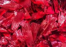 Rött blänka abstrakt bakgrund för bandtexturjul Arkivbild