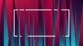 Rött blått neonljus med en reflex på geometriska diagram, vektorillustration vektor illustrationer