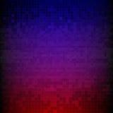 Rött, blått och lilor pixelated digital bakgrund royaltyfri illustrationer
