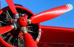 Rött bladflygplan Arkivbilder