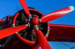 Rött bladflygplan Royaltyfri Bild