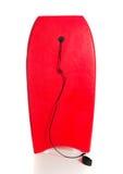 Rött boogiebräde på en vit bakgrund Royaltyfria Foton