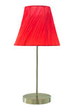 Rött bordlägga lampan Royaltyfria Bilder