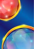 Rött bubbla, och blått bubblar royaltyfri illustrationer