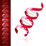 Rött DNA royaltyfri illustrationer