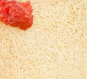 Rött driftstopp målar på bröd Royaltyfria Foton